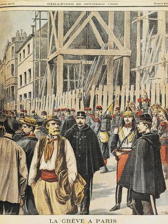 Strikes in Paris, from Petit Journal, October 1898