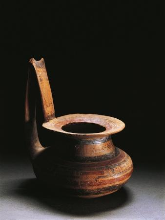Ceramic Pitcher with Geometrical Decoration, from Molise Region
