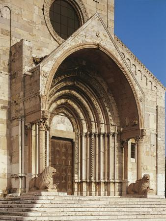 Doorway of Cathedral of San Ciriaco, Ancona, Italy, 11th-12th Century