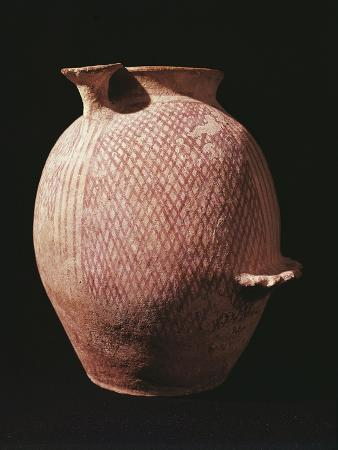 Large Painted Terracotta Vase, from Jericho, Israel, 3rd Millennium BC
