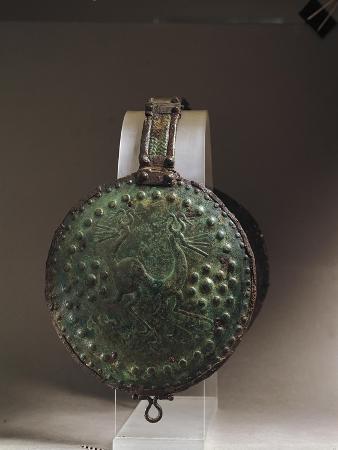 Italy, Abruzzo, Alfedena, Medium-Adriatic Bronze Disk from an Armor