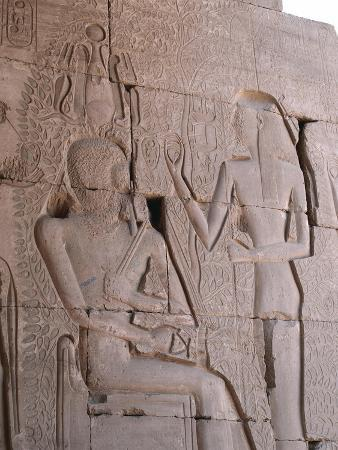 Relief of Isis Appearing to Ramses II