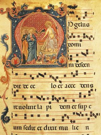 Page of an Antiphonary, Miniature, 16th Century