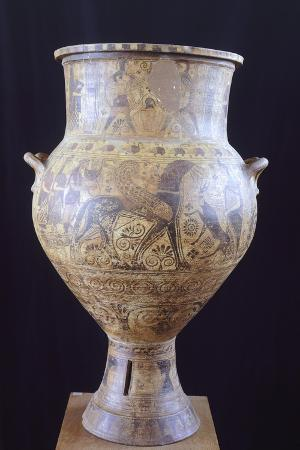 Amphora Depicting Chariot of Apollo, from Milos, Greece, 7th Century BC