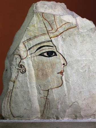 Fragment of Painted Limestone Depicting the Profile of Ramses VI
