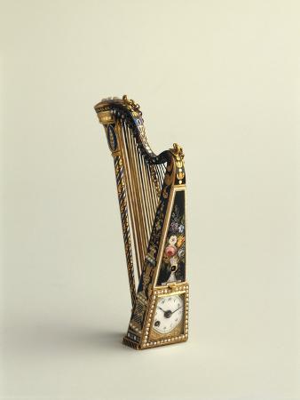 Harp-Shaped Pendant Watch