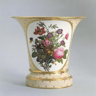 Vase with Floral Decorations