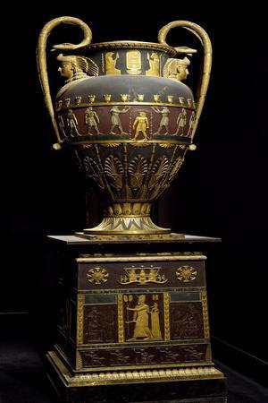 Monumental Vase in Egyptian Style, Ceramic