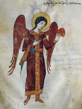 An Angel Speaking in a Dream to the Emperor, Miniature from Oracle of Leo the Wise