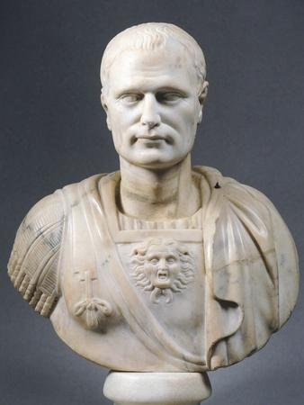 Marble Bust of a Roman Officer, from Tomis, Romania