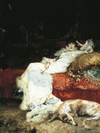 France, Paris, Portrait of Sarah Bernhardt