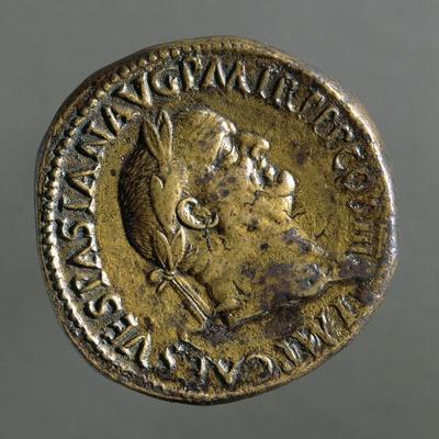 Sestertius of Vespasian Bearing Image of Emperor, Ad 71, Recto, Roman Coins AD