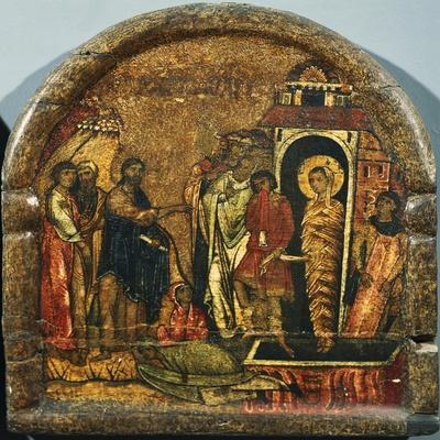 Stories from the Life of Christ, the Raising of Lazarus, Byzantine Panel