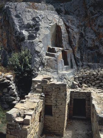 Peru, Cusco, Urubamba, Ollantaytambo, Inca Archaeological Site, Inkamisana Sanctuary