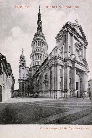 Basilica of San Gaudenzio in Novara, the Early 1900s, Italy, Postcard