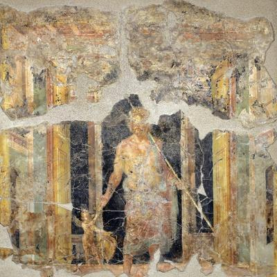 Painting of the Fourth Pompeian Style Depicting Jupiter