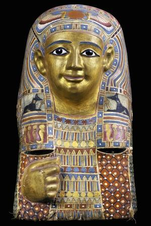 Funerary Mask, Gilded and Painted Cartonnage