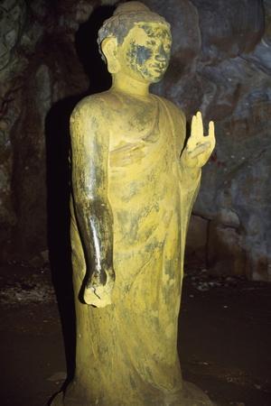 Vietnam, Near Da Nang, Statue of Deity in Heaven Cave Mountain