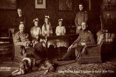 König Friedrich August Von Sachsen Mit Familie
