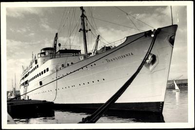 Foto Dampfschiff Transilvania Vor Anker Im Hafen