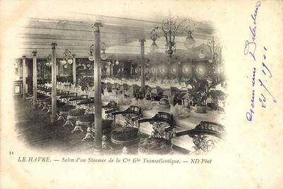 Le Havre, Dampfer Der Cgt, French Line, Salon