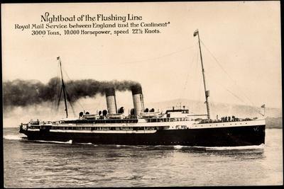 Royal Mail Lines, Nightboat, Flushing Line, Steamer