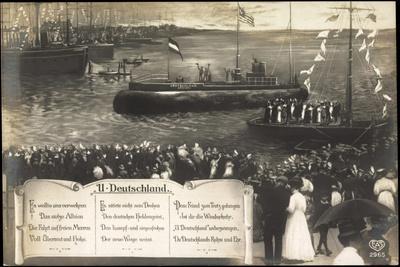 Bremen, Deutsches U Boot Beim Einlauf, Gedicht, Feier