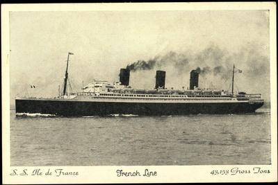 S.S. Ile De France, French Line, Cgt, Dampfschiff