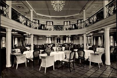 Hapag, Dampfer New York, Speisesaal, 1 Klasse