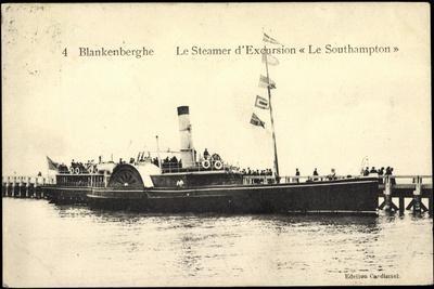 Blankenberghe, Steamer D'Excursion, Le Southampton