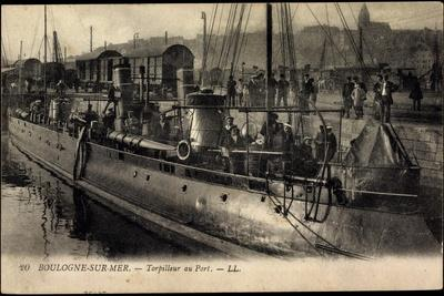 Boulogne Sur Mer, Torpilleur Au Port, Kriegsschiff