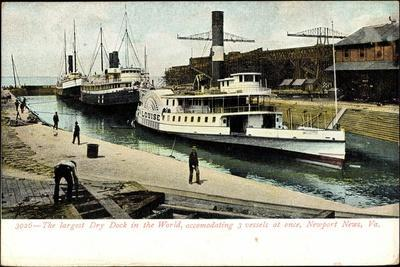 Newport News Virginia, Dry Dock, Steamer Louise