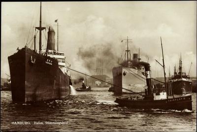 Hamburg, Hafen, Japanischer Dampfer Taibu Maru