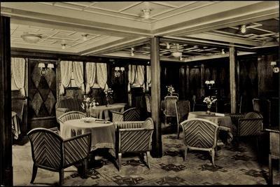 Hapag, Dampfschiff Hamburg, Damenzimmer,Tourist