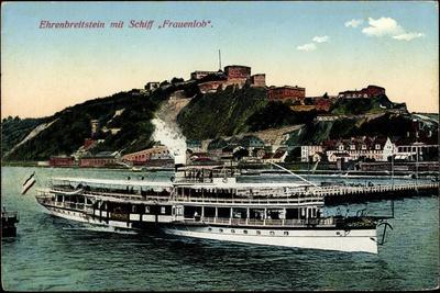 Koblenz Am Rhein, Ehrenbreitenstein,Schiff Frauenlob