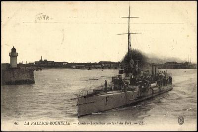 La Pallice Rochelle,Contre Torpilleur Sortant D Port