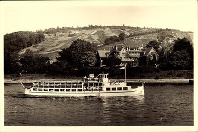 Unkel Rhein, Rheinhotel Länderhaus, Dampfer, Felder