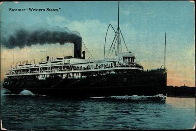 Steamer Western States En Route, Vapor, Detroit Line
