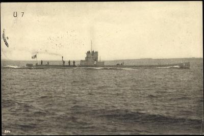 Foto U Boot 7 Über Wasser, 1 Komp XIV Seewehr