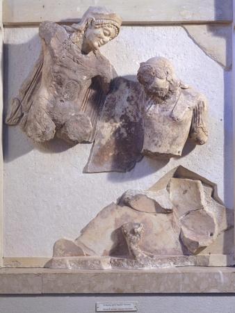 Greece, Delphi, Treasury of Athenians, Relief Detail,5th Century BC, Ancient Greece