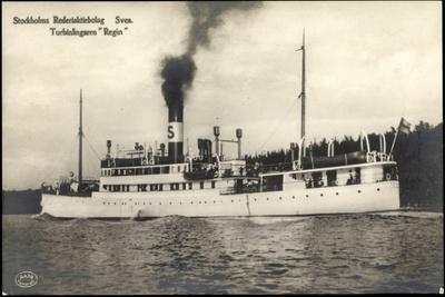 Stockholm, Dampfschiff Regin Der Svea, Johnson Line