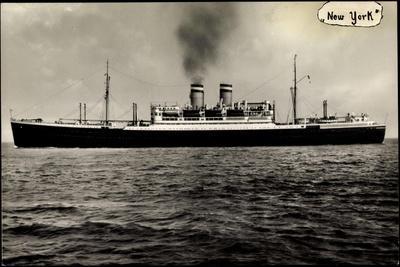 Hapag, Dampfschiff New York Auf Hoher See