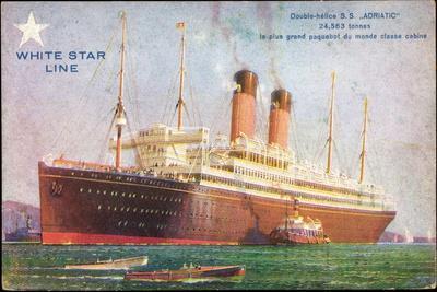 Künstler White Star Line, S.S. Adriatic, Dampfschiff