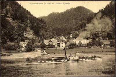 Schmilka Bad Schandau, Dampfer Leitmeritz A. Elbe
