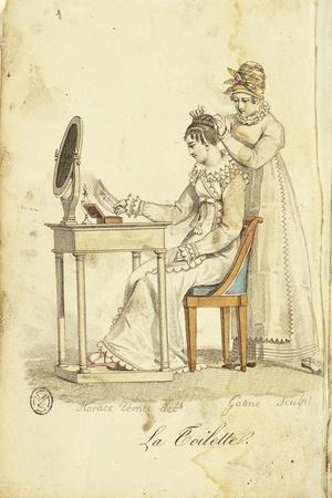 """Toilette, from """"Almanach Des Modes"""" after Drawing, 1815"""
