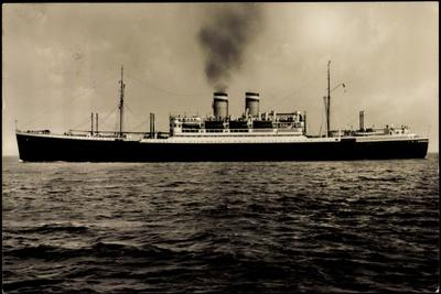 Dampfer New York Der Hapag Auf Dem Atlantik