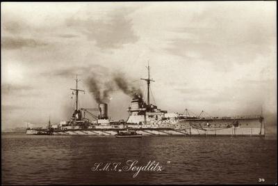Kriegsschiffe Deutschland, S. M. S. Seydlitz Auf See