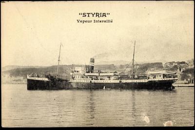 Dampfschiff Styria Am Hafen, Vapeur Interallié