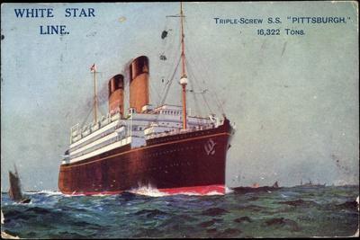 Künstler White Star Line,S.S. Pittsburgh,Dampfschiff