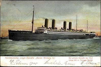 Norddeutscher Lloyd Bremen, Kaiser Wilhelm II,Dampfer